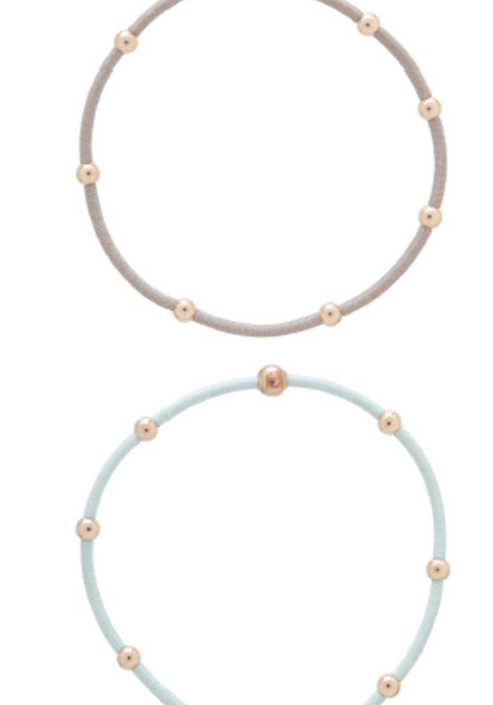 """""""e""""ssentials Bracelet Stack Signature (Mint/Grey)"""