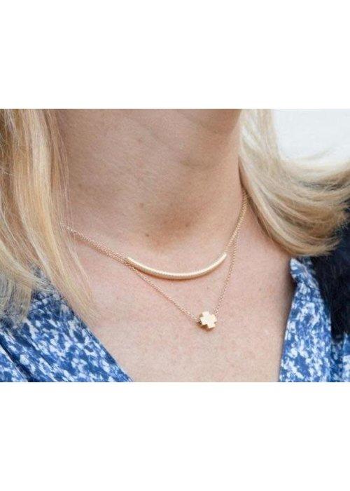 """Enewton 16"""" Necklace Gold Signature Cross Matte Gold"""