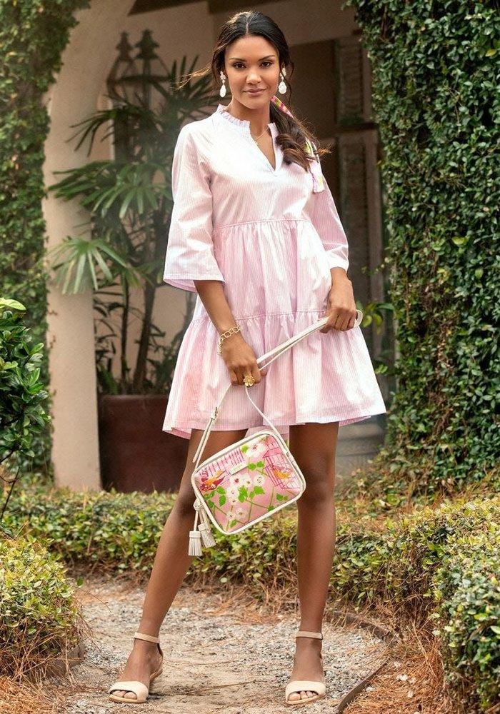 Maisie Dress Pink Stripe