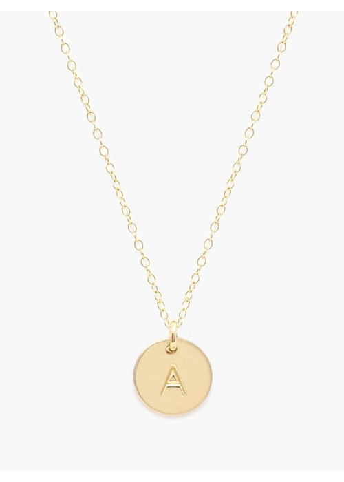 ABLE Mini Tag Initial Necklace