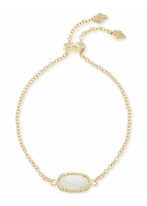 Kendra Scott Elaina Bracelet Gold Metal White Opal