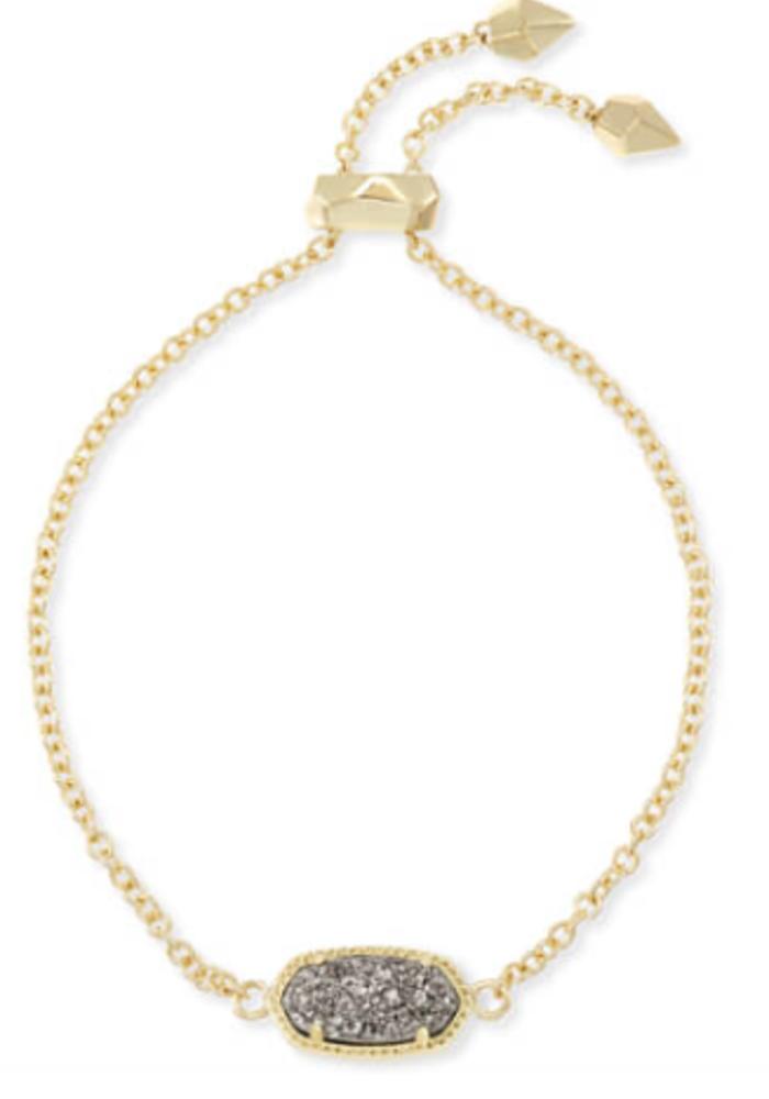 Elaina Bracelet Gold Platinum Drusy
