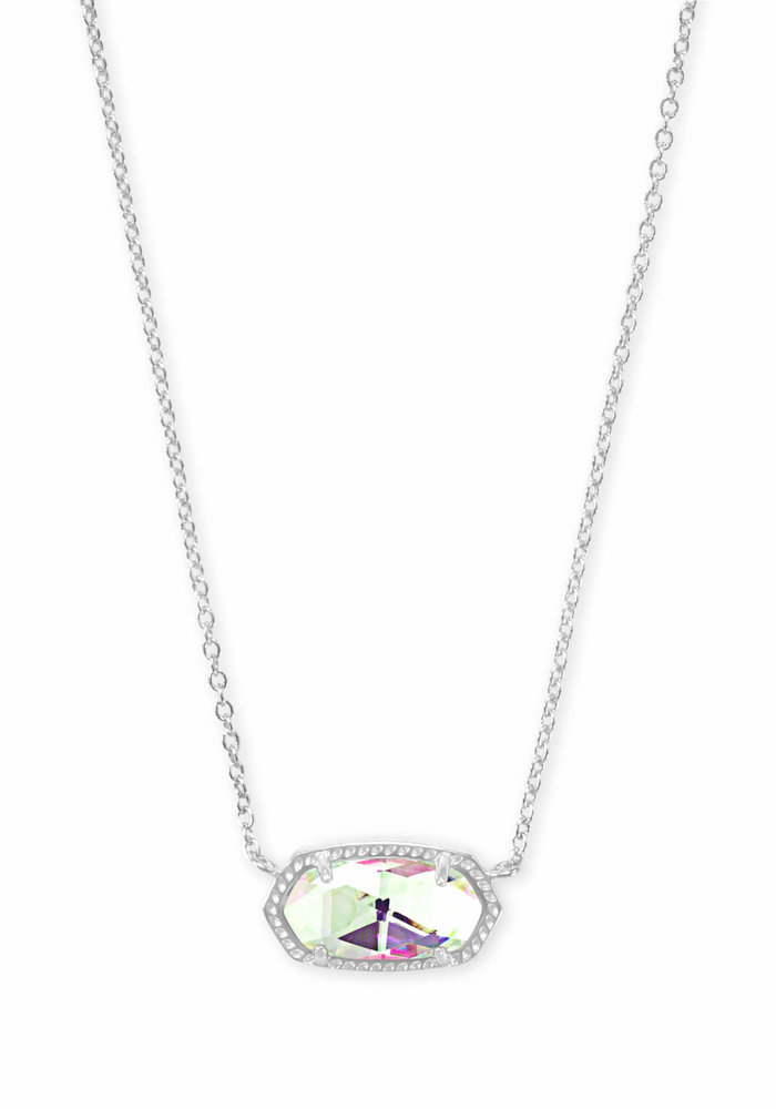 Elisa Necklace Silver Metal Dichroic Glass