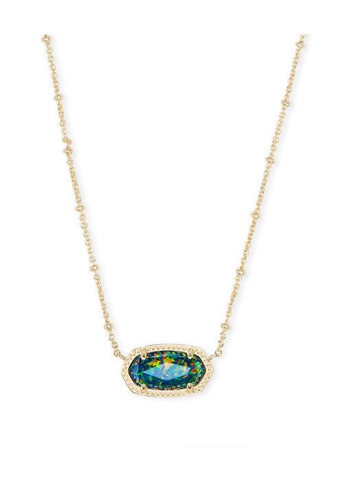 Kendra Scott Elisa Satellite Short Necklace Gold Midnight Opal Illusion