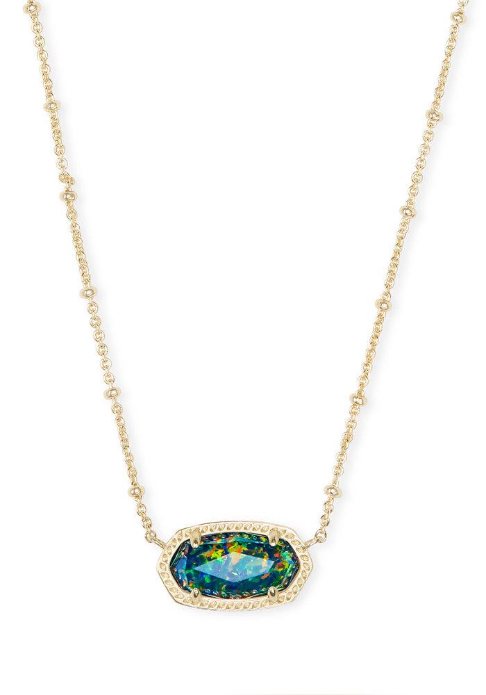 Elisa Satellite Short Necklace Gold Midnight Opal Illusion