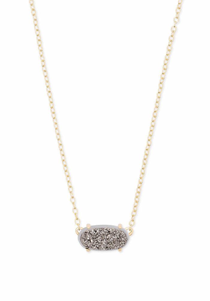 Ever Necklace Gold Platinum Drusy