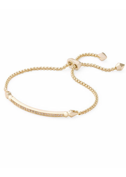 Kendra Scott Ott Bracelet Gold Metal White CZ