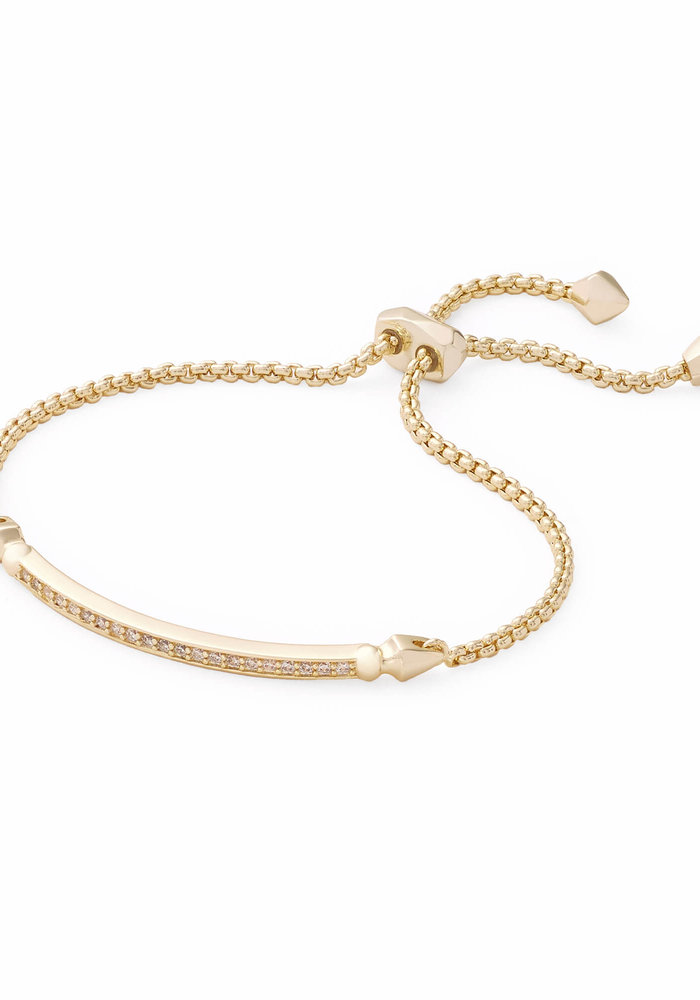 Ott Bracelet Gold Metal White CZ