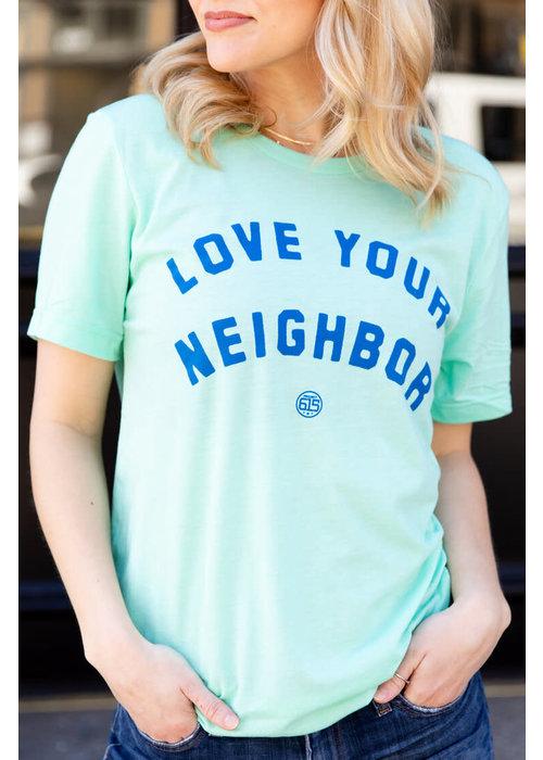 Mint Love Your Neighbor Unisex Tee