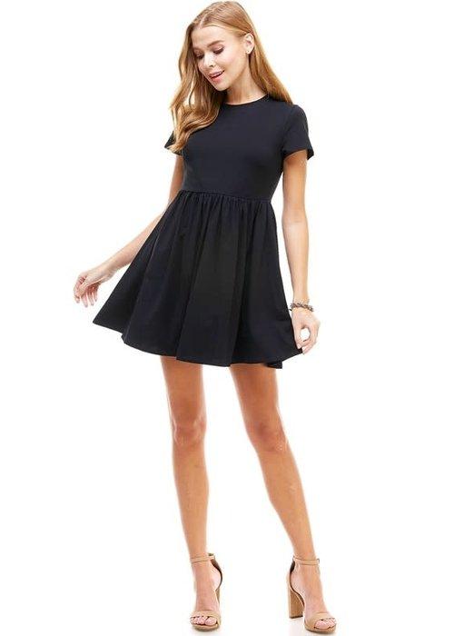 Black Stretch Babydoll Dress