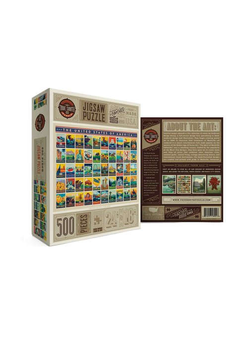 True South Puzzle Company American States Puzzle