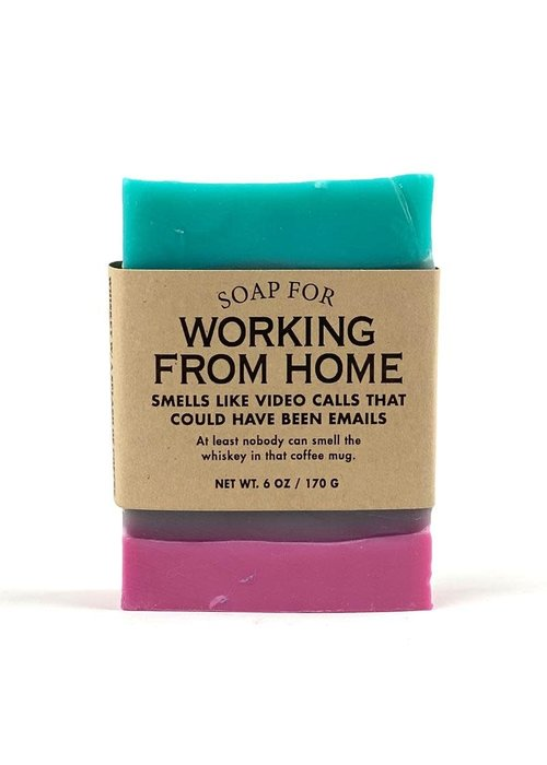 """Whiskey River Soap Co. """"Working From Home: Video Calls That Could Have Been Emails"""" Handmade Soap"""