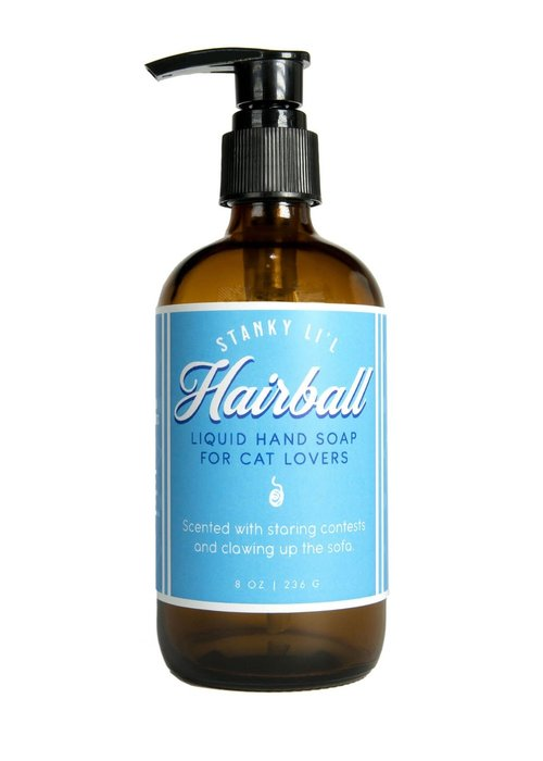 "Whiskey River Soap Co. ""Hairball: Soap For Cat Lovers"" Liquid Soap"