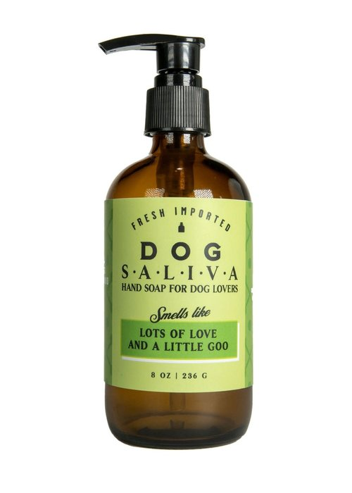 "Whiskey River Soap Co. ""Dog Saliva: Soap For Dog Lovers"" Liquid Soap"