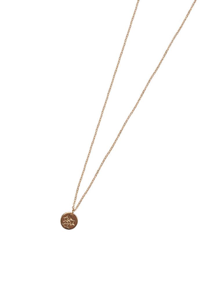 Tri Star Mini Tag Necklace