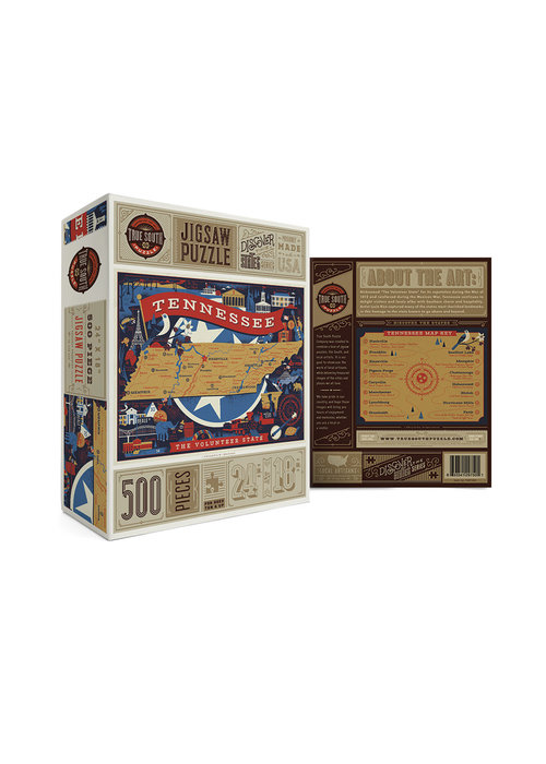True South Puzzle Company Tennessee Volunteer State Puzzle