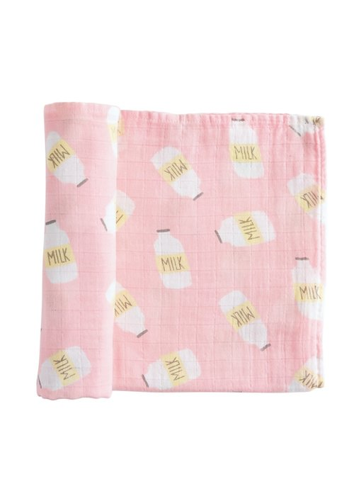 Mudpie Milk Bottle Swaddle Blanket
