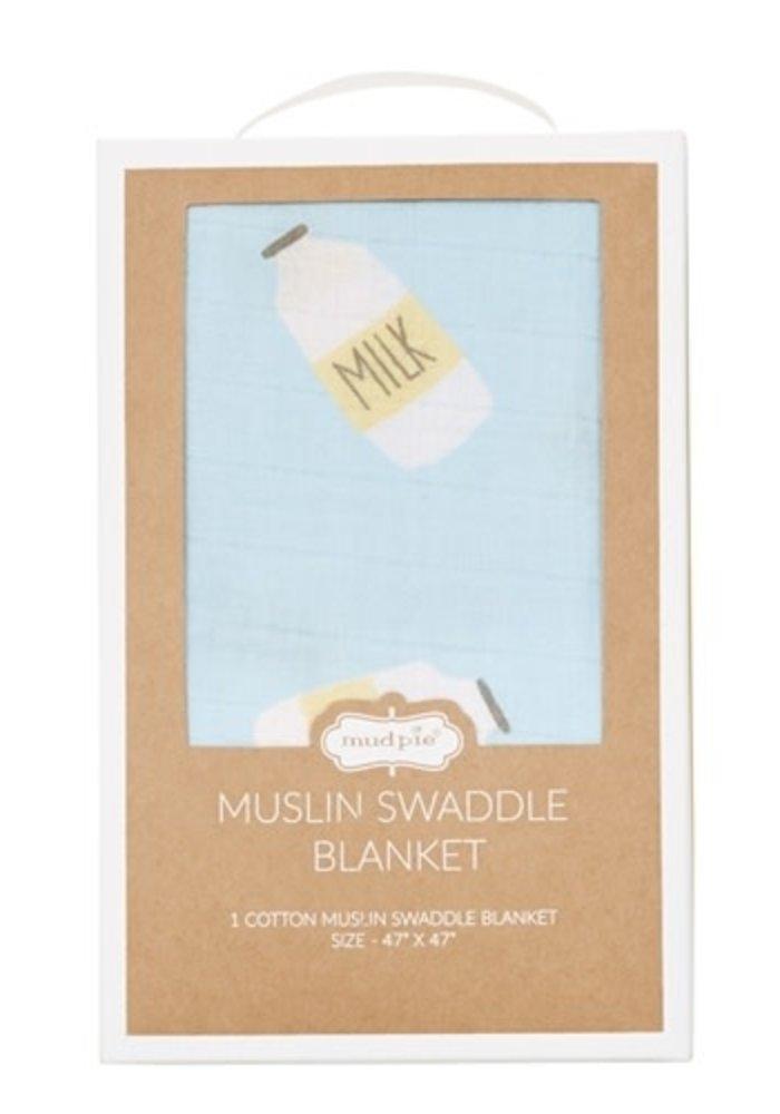 Milk Bottle Swaddle Blanket