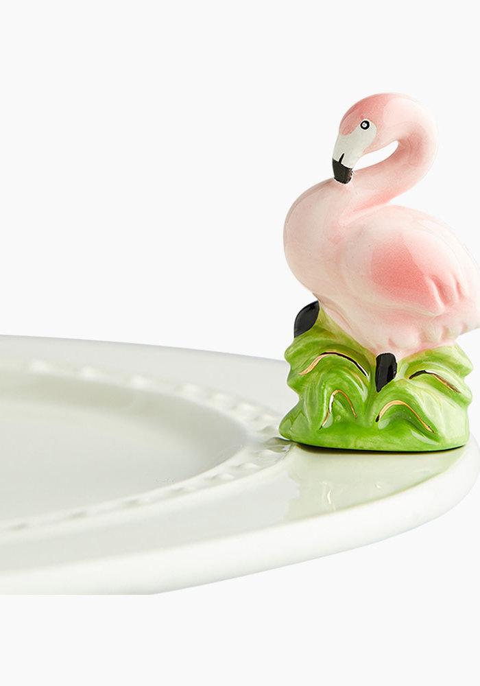 Tickled Pink Flamingo Nora Fleming Mini