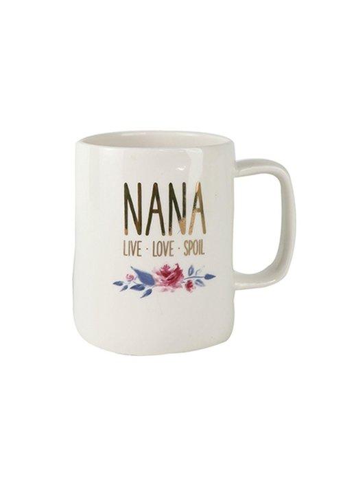 """""""Nana Live Love Spoil"""" Ceramic Mug"""