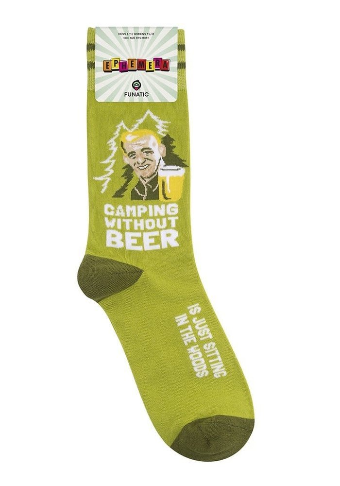 """Camping Without Beer Is Just Sitting In the Woods"" Socks"