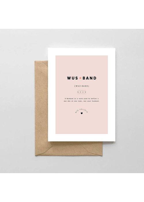 """""""Wusband"""" Divorce Card"""
