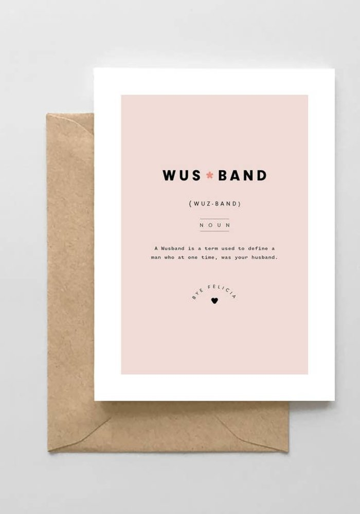 """Wusband"" Divorce Card"