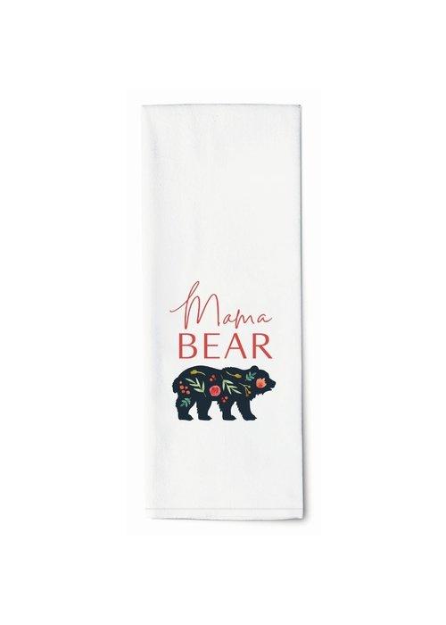 """Mama Bear"" Floral Tea Towel"
