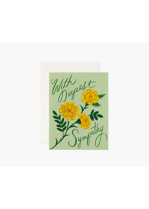 "Rifle Paper ""With Deepest Sympathy"" Marigold Card"