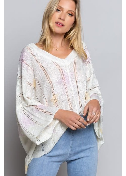 Color in Stars Thin Sweater