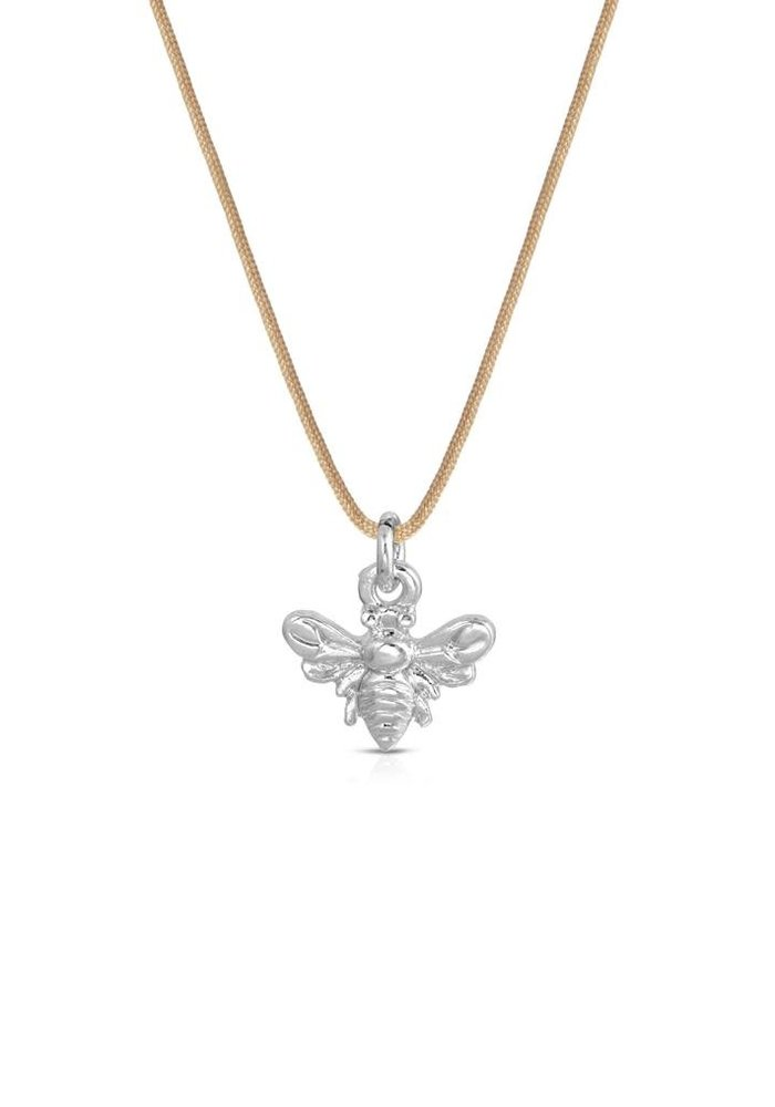 """""""Bee Happy"""" Silver Gift Message Necklace"""