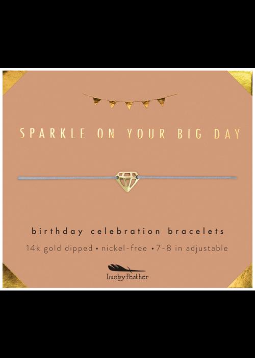 "Lucky Feather ""Sparkle on Your Big Day"" Birthday Celebration Bracelet"