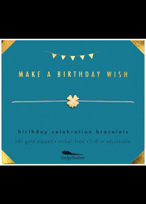 "Lucky Feather ""Make a Birthday Wish"" Birthday Celebration Bracelet"