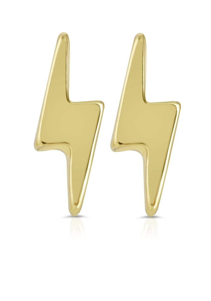 """""""You Are Electric"""" 14K Gold Gift Message Earrings"""