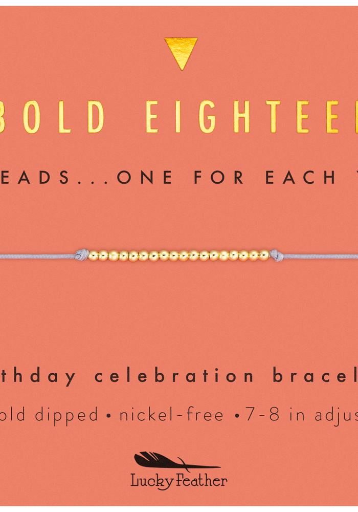 """Bold Eighteen"" Milestone Birthday Bracelet"
