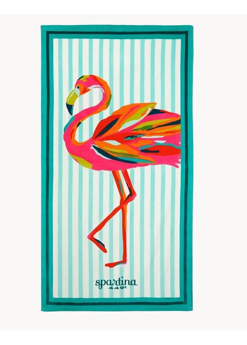 Spartina 449 Moreland Flamingo Oversized Beach Towel