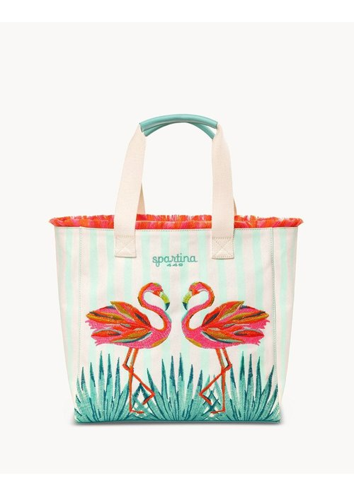 Spartina 449 Moreland Flamingo Beach Tote