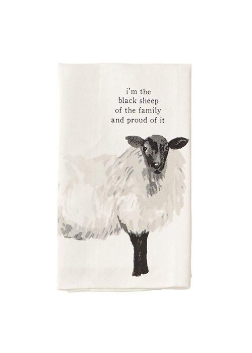 "Mudpie ""The black sheep...and proud of it"" Sheep Tea Towel"