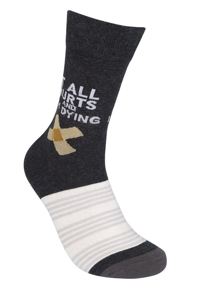 """It All Hurts and I'm Dying"" Socks"