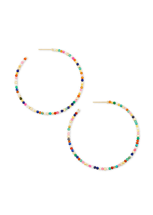 Kendra Scott Scarlet Hoop Earring Gold Multicolor