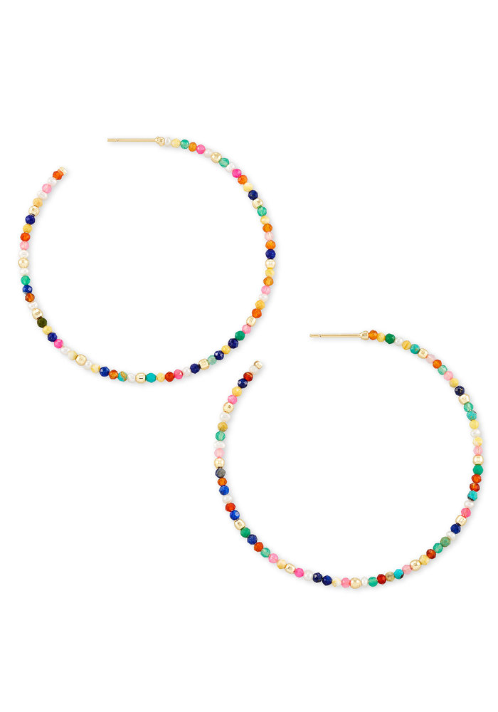 Scarlet Hoop Earring Gold Multicolor