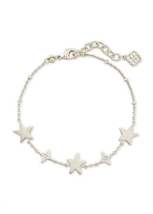 Kendra Scott Jae Star Delicate Bracelet Silver Metal