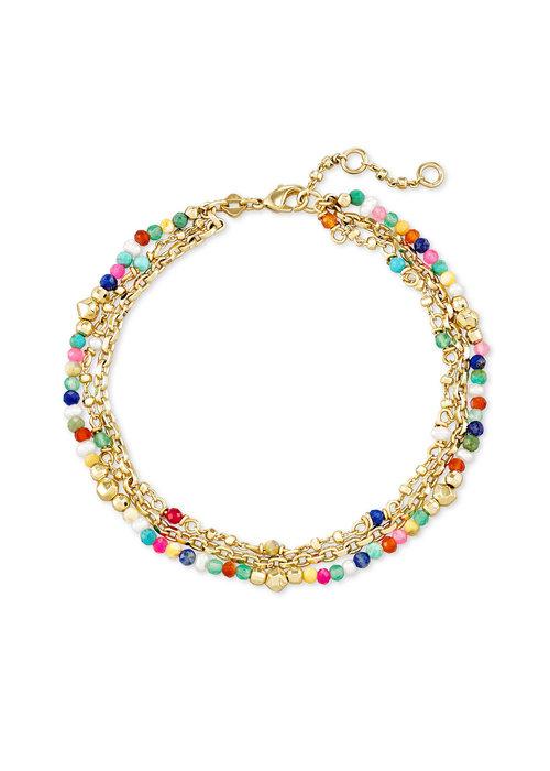 Kendra Scott Scarlet Delicate Bracelet Gold Multicolor