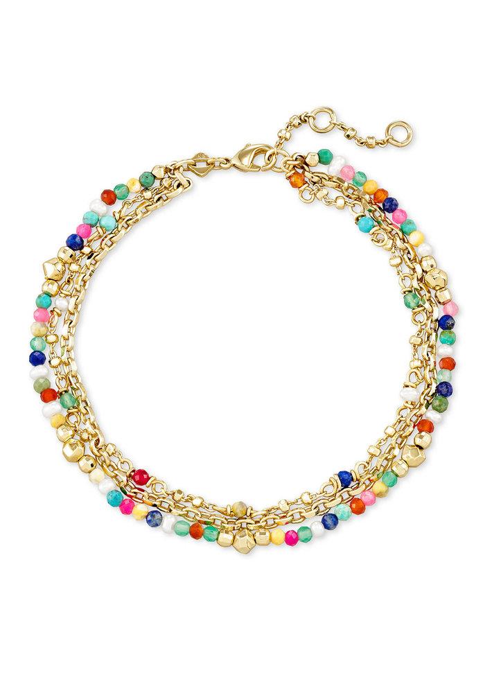 Scarlet Delicate Bracelet Gold Multicolor