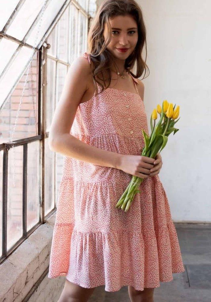 Ditsy Heart Mini Dress