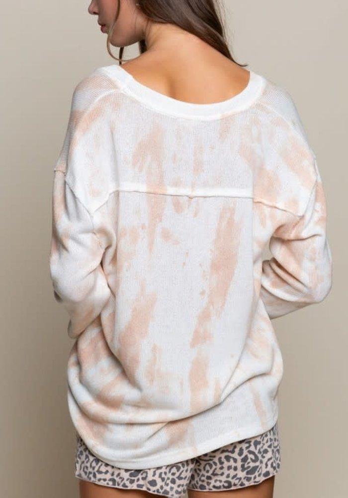 Hand Dip Dye Lightweight Thin Sweater