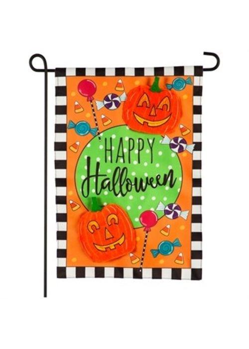 Happy Halloween Celebration Applique Garden Flag