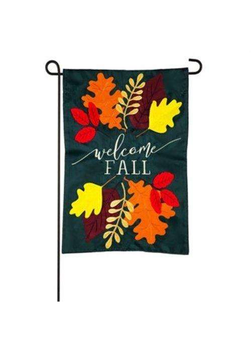 Welcome Fall Leaves Garden Applique Flag