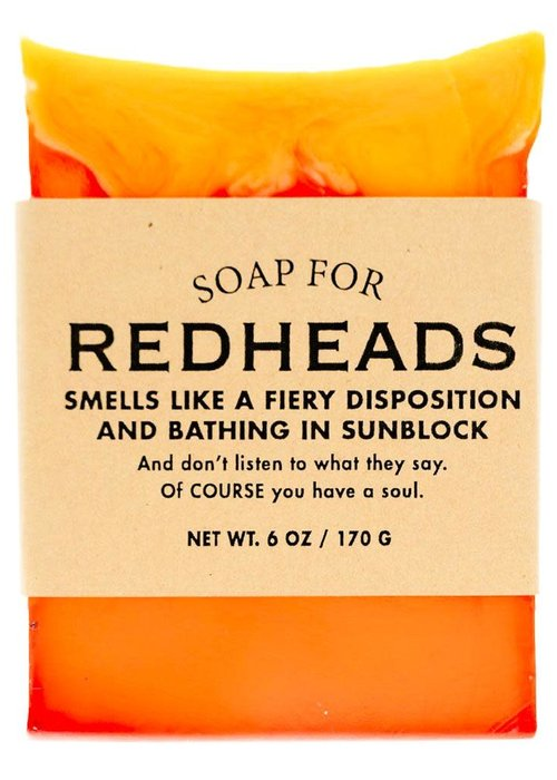 "Whiskey River Soap Co. ""Redheads: Smells Like a Fiery Disposition & Bathing in Sunblock"" Handmade Soap"