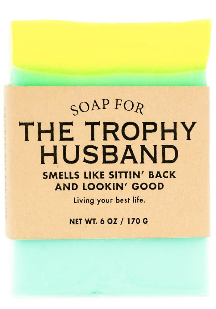 """Trophy Husband: Smells Like Sittin' Back & Lookin' Good"" Handmade Soap"
